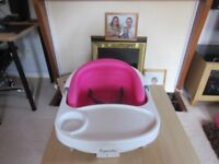InGenuity Baby Base Booster 2-in-1 Pink Seat for Feeding - Portable