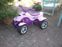 Princess quad bike (Falk). Hardly used in very good condition. Age 3yrs +