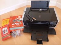 Canon Inkjet Photo Printer PIXMA iP4500 with two spare inks, some photo paper and original box