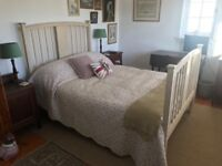 Beautiful Vintage Shabby Chic Double Bed With Mattress