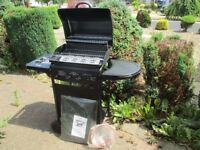 2 Burner Propane Gas BBQ with Side Burner