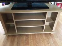 TV stand 3 shelf oak effect