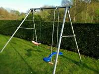 TP double swing set in good working condition