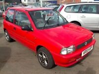 2002 Suzuki Alto Gl 1.0 3 door Ideal First Time Car Alloys 12 Months mot 3 months warranty