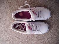 white Nike ladies size 4.5 trainers (worn)