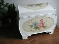 Pretty Vintage look Hand Painted Wooden Trunk Furniture