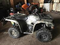 Yamaha Grizzly 550 4x4 farm quad ATV in Real Tree livery