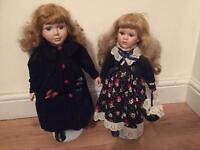 Victorian dolls (pair)