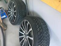 "VW Caddy Wheels 18"" with winter tyres"
