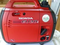 Top of the range Honda Generator purchased Aug. 2016 used for 20 minutes only