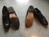 MENS BLACK LEATHER SHOES size 44. SUPERB CONDITION. TOPMAN and BURTONS sold as a bundle thanks.