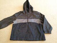 Boys Sainsbury TU grey hooded PAC A Mac Cagoule rain coat jacket size 6 yrs NEW