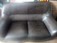 Good Condition Brown Faux Leather Sofa Sturdy Quality 2 Seater Sofa LAST DAY SALE