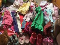 Huge bundle of girls 18-24 months clothes over 50 items