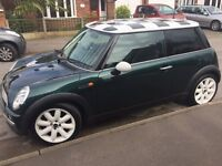 2003 British Racing Green Mini Cooper for sale, only 2 previous owners and a FSH.