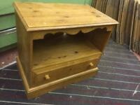Old pine wood tv unit stand cabinet
