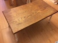 Handmade real wood wooden sitting height coffee or tea table Near Kings Cross