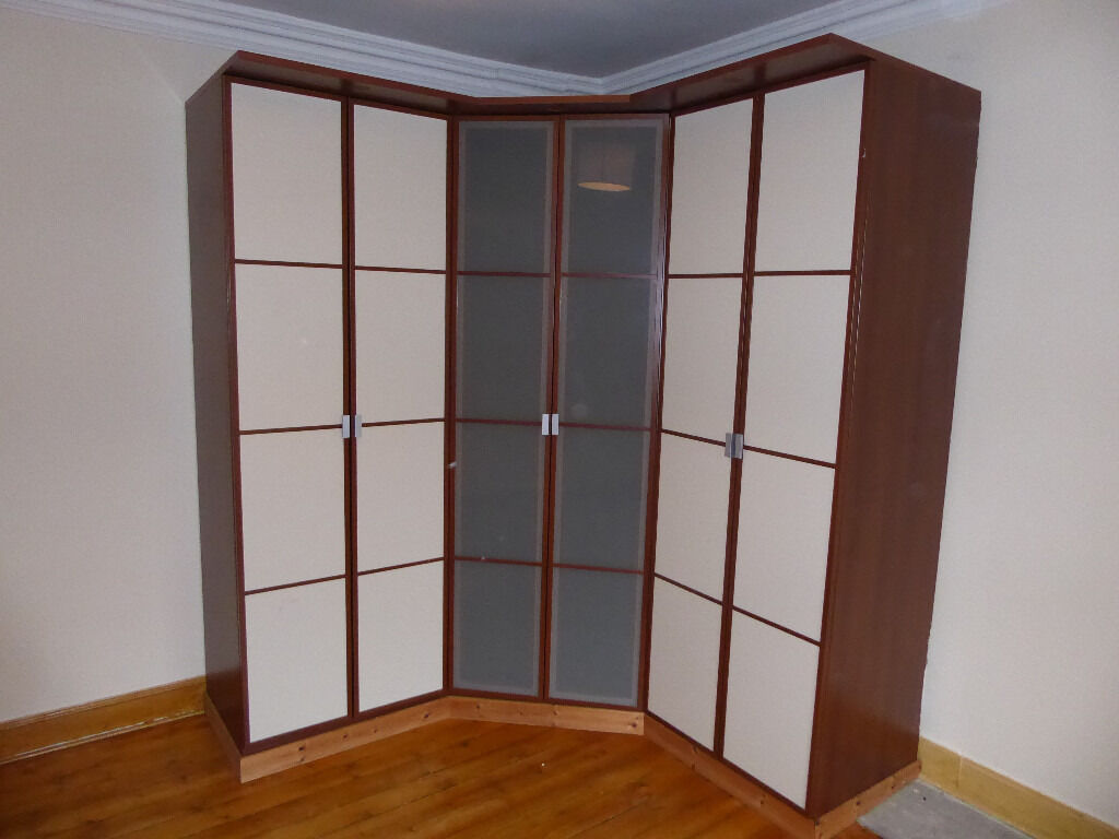 ikea hopen corner wardrobe with addition side units in southside glasgow gumtree. Black Bedroom Furniture Sets. Home Design Ideas