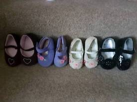 4 pairs of Baby pram shoes Age 3 baby.