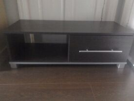 Minsk TV Unit Wenge Effect Low level TV stand with shelf and drawer Great condition