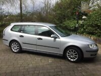 Saab 9-3 Linear Sport 1.8 petrol estate, manual 5 speed, 114,156 miles Silver 2006 SL2