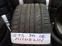 295x30x18 MICHELIN 285x35x18 PIRELLI 275x40x18 DUNLOP 275x35x18 £40 EACH SUP & FITD(loads more av