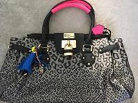 Large Paul's Boutique bag, animal print and neon pink straps