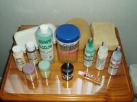 ART & CRAFT BUNDLE - PAINTS / WAXES / SPONGES / TRAY