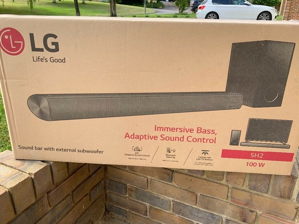 LG Soundbar and subwoofer SH2 100w - new and unboxed | in Reigate, Surrey |  Gumtree