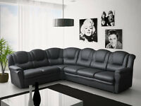 LUXURY AT AFFORDABLE PRICES**7 SEATER CORNER SOFA'S**3+2 SETS**CHENILLE FABRIC & ITALIAN LEATHER