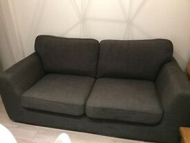 Grey 3 seater DFS sofa under 2 years old