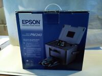 Epson Picturemate 240 photo printer, used, complete and boxed including a supply of photo paper