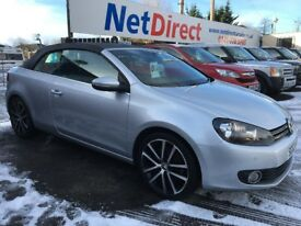 Volkswagen Golf 2.0 TDI BlueMotion Tech GT Cabriolet 2dr - LOW MILEAGE. £30 TAX