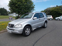 MERCEDES ML 270 CDI DIESEL 4X4 STUNNING SILVER 2003 BARGAIN ONLY 2950 *LOOK* PX/DELIVERY