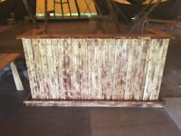 Handmade Distressed Wooden Bar
