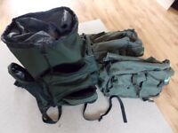 Carp Fishing Rucksack plus two holdalls