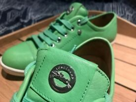 Longchamp green leather sneakers - Le Pliage Cuir