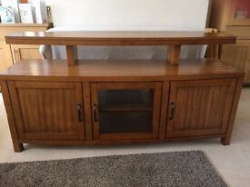 Large solid wood TV unit