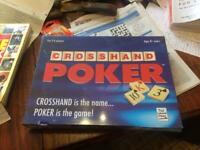 Crosshand Poker and Risk board games