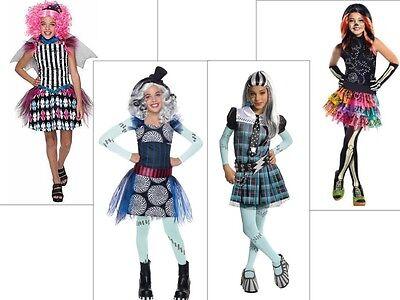 New Girls M 8-10 or L 10-12 MONSTER HIGH Skelita Frankie Rochelle costume PICK 1 (Skelita Monster High Costume)