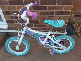 Girl's 14in Frozen Bike with Stabalisers