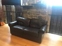 Ikea brown leather sofa **FREE** collection only!