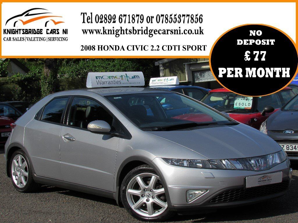 2008 HONDA CIVIC 2.2 I-CDTI SPORT 5 DR FULL SERVICE HISTORY NEW CLUTCH AND  FLYWHEEL EXCELLENT ORDER