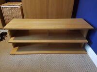 Ikea oak effect tv stand / unit