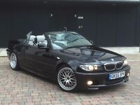 BMW 330 CI SPORT CONVERTIBLE 6 SPEED MANUAL MET BLACK WITH SILVER LEATHER SEATS *CHECK IT*