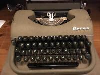 Byron Portable vintage typewriter
