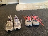 2 pairs of huaraches trainers