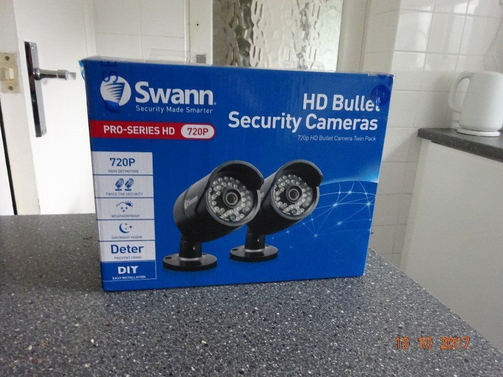 Swann Security Cameras 720p HD Bullet Camera Twin Pack