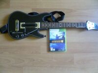 XBOX 360 GUITAR HERO LIVE GAME AND GUITAR