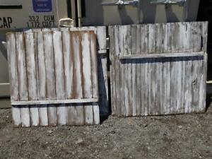 OAKVILLE Garden Decor SHABBY CHIC Background 4 Panels Old Wood Boards Painted Whitewashed 3'x4' RUSTIC Barnboard Fence
